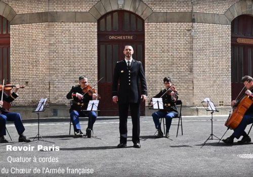 Visuel vidéo quatuor à cordes et chanteur